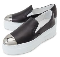 MiuMiu★metal & nappa leather slip-on black  謝恩品EMS関税込