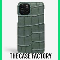The Case Factory★iPhone 11/PRO/MAX クロコダイルティール