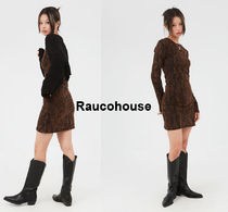 Raucohouse Bleached Long Sleeve Mini One-piece