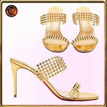 Christian Louboutin☆ Spikes Only メタリックサンダル 関送込