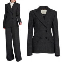 FE2804 CHECKED WOOL JACKET