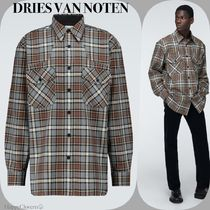 DRIES VAN NOTEN☆Checked flannel long sleeved shirt☆送/関込