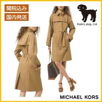 【Michael Kors】Studded Twill Trench Coat◆国内発送◆