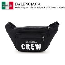 Balenciaga explorer beltpack with crew embroidery