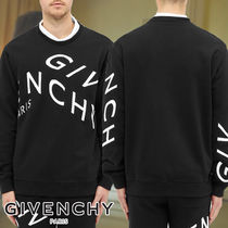 GIVENCHY☆EMBROIDERED REFRACTED LOGO CREW SWEAT シンプル