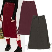 ★citybreeze★CITY ASH SIDE LACE UP LONG SKIRT 2色