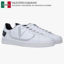 VALENTINO GARAVANI BACKNET SNEAKERS IN SMOOTH LEATHER