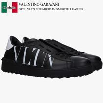 VALENTINO GARAVANI OPEN VLTN SNEAKERS IN SMOOTH LEATHER