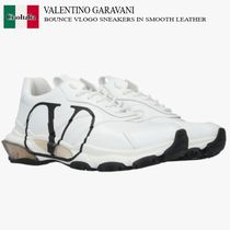VALENTINO GARAVANI BOUNCE VLOGO SNEAKERS IN SMOOTH LEATHER