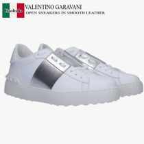 VALENTINO GARAVANI OPEN SNEAKERS IN SMOOTH LEATHER