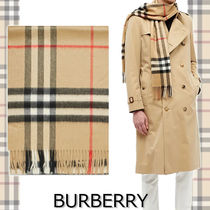 ★BURBERRY★VINTAGE CHECK CASHMERE SCARF カシミア100%♪
