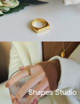 送料込 Shapes Studio☆THE MINIMALIST CHIC GOLD PLATED RING