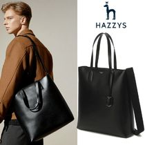 ★HAZZYS★Simple Logo Tote bag BLACK