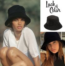 【Lack of Color】 Wave Bucket Hat  ブラック(Black Terry)