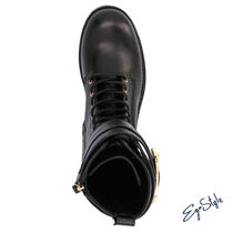 SAFETY PIN COMBAT BOOTS
