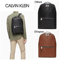 【Calvin Klein】☆人気☆REFINED LEATHER BACKPACK