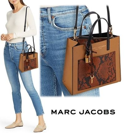 """MARC JACOBS ショルダーバッグ・ポシェット MARC JACOBS """"Mini Grind"""" パイソン カラーブロック 2WAYバッグ(13)"""