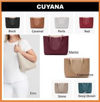 【CUYAMA】Structured Leather ◆スモールトートバック