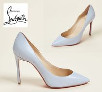 CHRISTIAN LOUBOUTIN☆Grey Pigalle Pointed Toe Leather Pumps