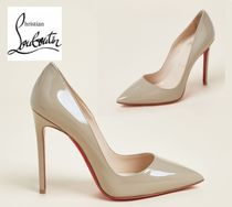 CHRISTIAN LOUBOUTIN☆Taupe So Kate 120 Patent Pumps