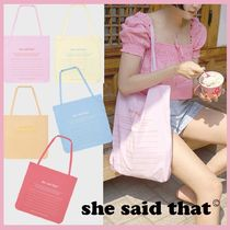 ☆she said that☆ note bag 5color