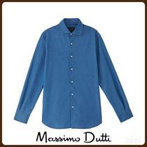 MassimoDutti♪SLIM FIT DENIM COTTON SHIRT