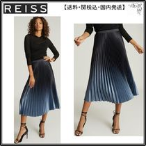 【海外限定】REISS スカート☆MARLENE OMBRE PLEATED MIDI SKIRT
