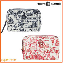国内発送【Tory Burch】Perry Nylon Printed Small CosmeticCase