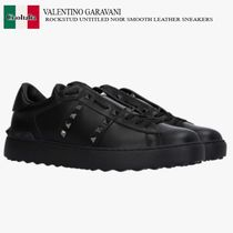 VALENTINO GARAVANI ROCKSTUD UNTITLED SMOOTH LEATHER SNEAKERS
