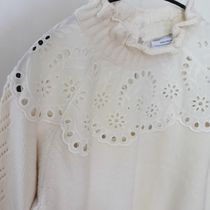 """""""& Other Stories"""" Wool Blend Scalloped Sweater Cream"""