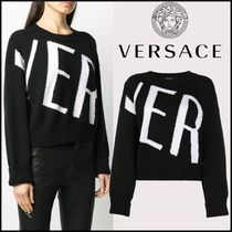 ★VERSACE★ロゴ ニットセーター【国内発送・関税/送料無料】