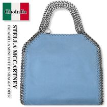 STELLA McCARTNEY FALABELLA MINI TOTE IN SHAGGY DEER