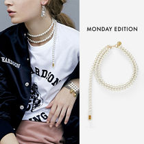 Monday Edition(マンデイエディション) ネックレス・ペンダント MONDAY EDITION正規品★Dropped Pearl Necklace
