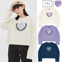 ROMANTIC CROWN★[TGT X RMTCRW]INTARSIA CROP KNIT3色