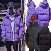 ★NERDY★韓国 大人気 ロゴ ダウン NY Track Solid Down Jacket