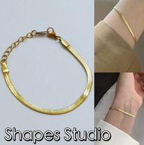 送料込 Shapes Studio☆ THE HERRINGBONE FLAT CHAIN BRACELET