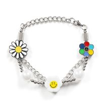 ブレスレット【SALUTE】FLOWER ANARCHY PEARL CHARMS BRACELET