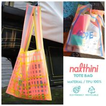 【LIGHTREE】韓国発NALTHINI CHECK ECO BAG エコバッグ 2colors