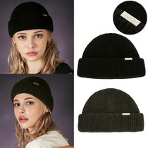 ★VARZAR★日本未入荷 韓国 Bold metal tip hard wool watch cap