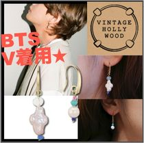 ☆BTS V着用☆VINTAGE HOLLYWOOD★Unbalance Beads Hook Earring