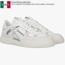 VALENTINO GARAVANI VL7N GRAINY LEATHER  TECH FABRIC SNEAKERS