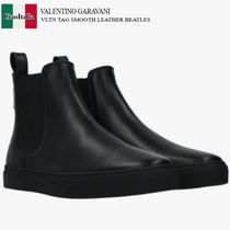 VALENTINO GARAVANI VLTN TAG SMOOTH LEATHER BEATLES