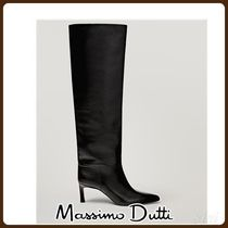 MassimoDutti♪LIMITED EDITION BLACK HIGH-HEEL BOOTS