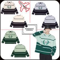 【ROMANTIC CROWN】MODERN LAUREL KNITTED POLO SHIRTS★大人気