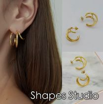 送料込 Shapes Studio☆ MULTI LAYERED HOOPピアス