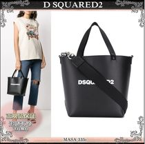 20AW☆送料込【D SQUARED2】 ロゴプリント トートバッグ