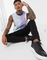 ASOS DESIGN relaxed sleeveless t-shirt with vertical panels