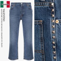 VALENTINO SIGNATURE STUDS-DETAILED STRAIGHT-FIT JEANS