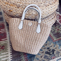 ★人気のバケツ型★Tory Burch Small Straw Carter Tote