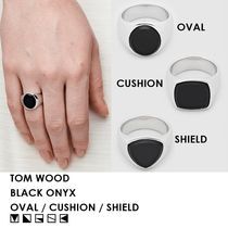 【UNISEX/人気必須】TOM WOOD・BLACK ONYX SILVER RING 3種